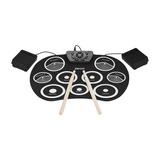 Portátil Batería Electrónica Set Rollo Arriba Drum Equipo 9