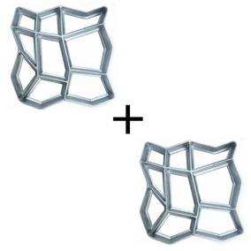 Kit 2 Formas Para Piso Jardim Para Concreto Piso 40x40x4cm