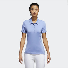 Playera Tipo Polo Golf adidas Azul Para Mujer Oferta 56aab4b7348a7