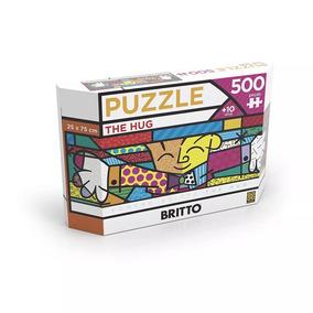 Puzzle Quebra Cabeça Panorama Romero Britto The Hug 500 Pçs