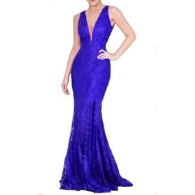c5dd79755 Vestido Madrinha Azul Royal Manga Tamanho Gg - Vestidos Longos GG ...