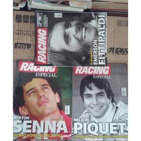 Revistas Racing Especiais Senna, Piquet E Fittipaldi
