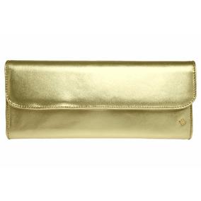 Bolsa Capodarte Original Couro Clutch Dourada - Cod. 4602032
