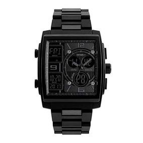 Reloj Para Hombre, Digital Y Análogo, Clásico Cuadrado,