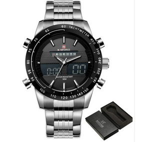 Relógio Pulso Naviforce Aço Inoxidável 48mm Nf9093 Garantia