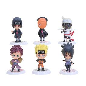 Naruto 6 Bonecos Sasuke Itachi Gaara Killer B Pronta Entrega