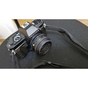 Camera Pentax P3n Com Lente 50mm 1:2 Analogica Colecionador