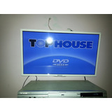Tv Led Top House 24 Blanco C/control,base Inpecable