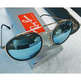 Oculos Rayban Azul Espelhado Armação Branca - Óculos no Mercado ... 836e874173