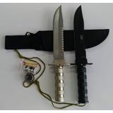 Kit 02 Faca Tática Militar Rambo + Bainhas