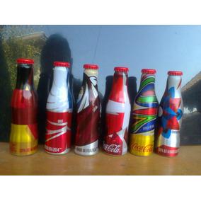 Mini Garrafinhas Coca Cola Copa De 2014 Lote Com 6 Pçs