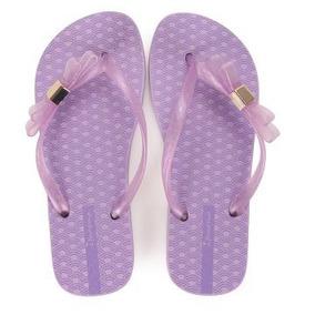 Sandalias Para Playa Flip Flops Chanclas Ipanema Moño Lila