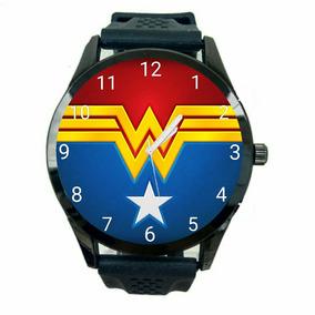 Relógio Mulher Maravilha Dc Unissex Promoção Barato Novo T19