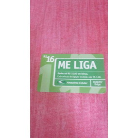 Cartão Me Liga Da Amazônia Celular De 16 Reais Novo