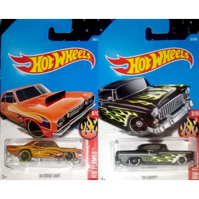 Hot Wheels - Lote Série Hw Flames - 68 Dodge Dart/55 Chevy