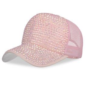 550c77e14eb33 Precio. Publicidad. Tapa Béisbol Malla Ajustable Diamante De Imitación  Sombrer