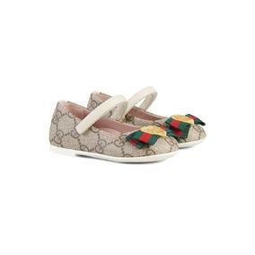 Zapato Gucci Niña Ballerina Gg Supreme * La Segunda Bazar