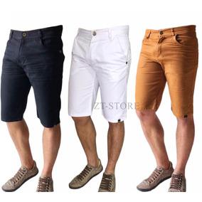 Bermuda Hollister De Brim Com Frete Grátis - Várias Cores. 18. 587 vendidos  - Minas Gerais · Kit 3 Bermuda Masculina Jeans Sarja Colorida Escolha Lycra 2a3e3f7c77eeb