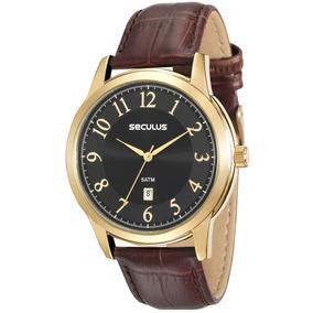 4aa77330633 Relogio Seculus Couro - Relógios no Mercado Livre Brasil
