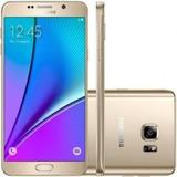 Samsung Galaxy Note 5 N920g Dourado Original Vitrine