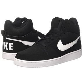 f31ac452c8fe7 Tenis Nike Court Borough Mid Aa0547002 Negro Hombre - Tenis en ...