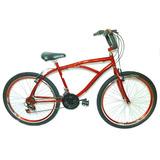 Bicicleta Aro 26 Beach Bike C/ Guidão Cg 21 Marchas