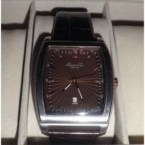 Reloj Caballero Keneth Cole Acero Y Piel (como Nuevo)