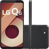 Smartphone Lg Q6 Preto Com 32gb, Tela 5.5, Android 7.0, 4g,