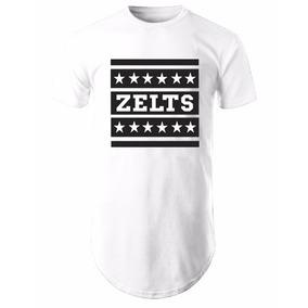 Camiseta Camisa Blusa Oversized Longline Zelts Branca c39e18a718586