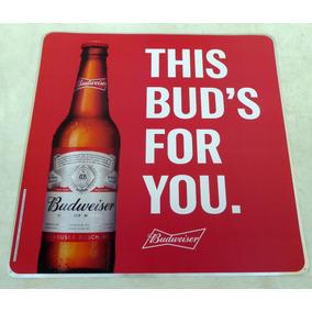 Placa Decorativa Cerveja Budweiser Em Aluminio