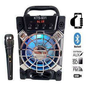 Rádio Caixa De Som Mp3 Amplificada Usb P2 Microfone Karaokê