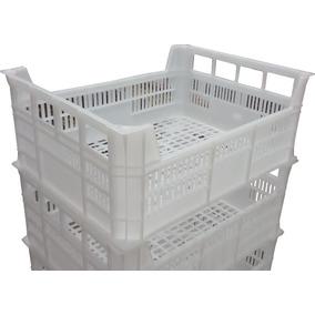 Caixa Plastica Vazada Polietileno 20l Para Camara Fria