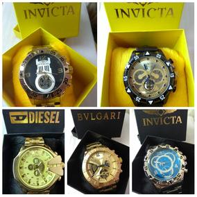 be93e65ecc8 Barato 05 Relógios Luxo Masculino Na Caixa Com Frete Grátis