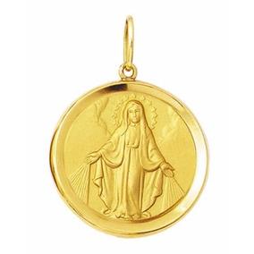 Nossa Senhora Das Graças Medalha Milagrosa Ouro 18k - Joias e ... 9d03f56dd3