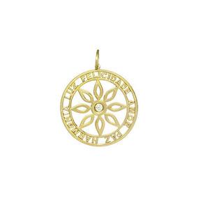 519386dc79569 Mandala Em Ouro Branco E Flor (pi11) ~ Pingente Nix C - Joias e ...