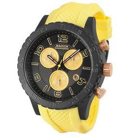 e435d508877 Relogio Fundo Amarelo Masculino Magnum - Relógios De Pulso no ...