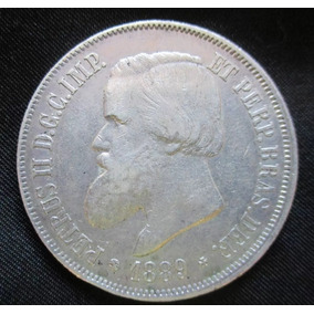 Moeda De Prata De Petrus Ii D. G. C. Imp. Do Ano De 1888 Dec