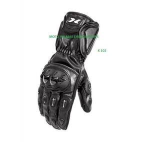 Luva De Couro Motociclista Com Proteçao Longa X102