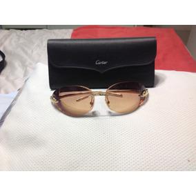 df3add519b2 Maravilhoso Óculos Cartier Panthere Original Abaixou