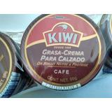Grasa Crema Para Calzado Kiwi De Jhonson 2en1 Color Café 80g