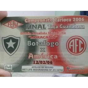 Ingresso Final Da Taça Guanabara De 2006