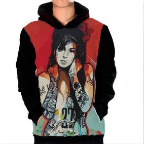 0e6afd87dca7d Casaco Blusa Moletom Amy Winehouse Música Cantora Londres