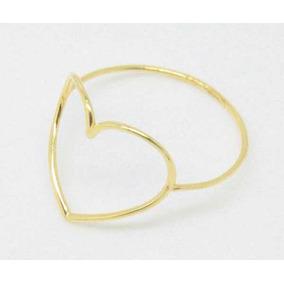 Anel Coração Em Ouro18k