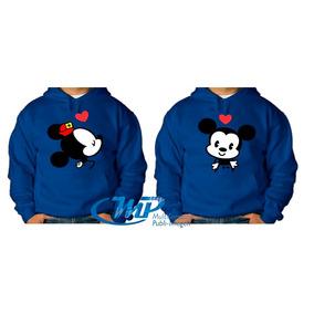 Par Sudaderas Personalizadas Pareja Mickey Mouse Envio Grati