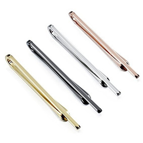 Hawson 4pcs Skinny Tie Clips Para Hombres Wedding Business