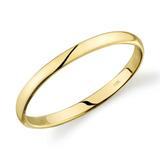 10k Amarillo Oro Ligero Ajuste Cómodo 2 Mm Boda Banda Tam