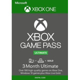 Game Pass Ultimate Pc Y Xbox One + Xbox Live Gold 3 Meses