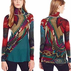 Suéter Desigual Rayas Colores Mujer Verde