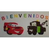Cars Rayo Mcqueen Y Mate Cartel Feliz Cumple En Goma Eva