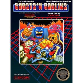 Pôster Video Game Retrô Nintendo Nes Capcom Ghosts Goblins